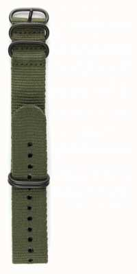 Elliot Brown Mens 22mm Olive Ballistic Nylon Gunmetal Hardware Strap Only STR-N01