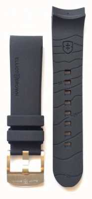 Elliot Brown Mens 22mm Black Rubber Tongue Buckle Strap Only STR-R01