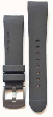 Elliot Brown Men's 22mm Grey Rubber Steel Tongue Buckle STR-R02
