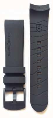 Elliot Brown Men's 22mm Black Rubber Black Buckle Strap Only STR-R08