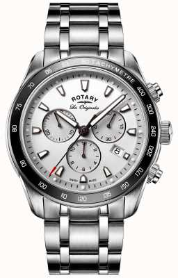Rotary Mens Les Originales Legacy Stainless Steel White Dial GB90169/02