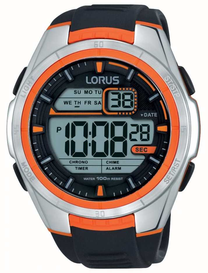 Lorus Mens Alarm Chronograph Stainless Steel Case R2311lx9 First
