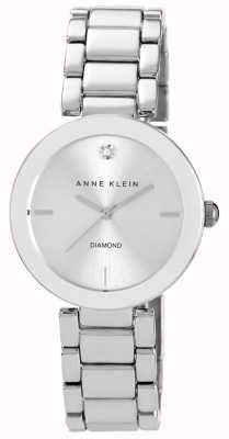 Anne Klein Womens Stainless Steel Bracelet Silver Dial AK/N1363SVSV