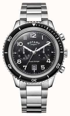 Rotary Mens Ocean Avenger Chronograph Black Dial GB05021/04