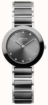 Bering Womans Stainless Steel Grey Ceramic 11429-783