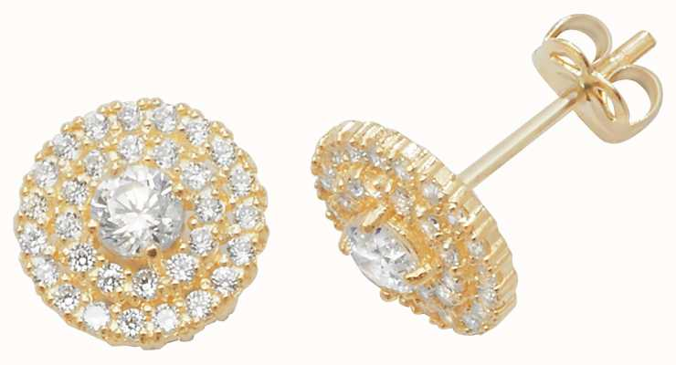 Treasure House 9k Yellow Gold Cubic Zirconia Stud Earrings ES443