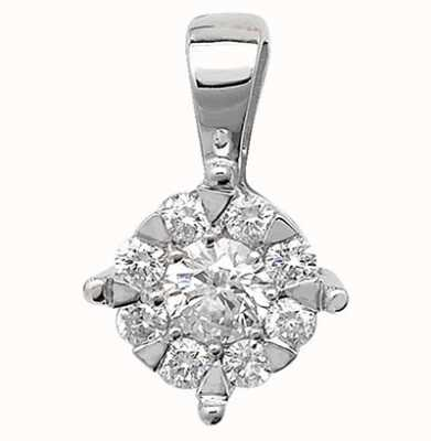 Treasure House 9K White Gold Diamond Pendant PD128W