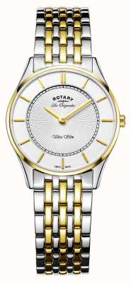 Rotary Woman Ultraslim Watch | Two-Tone Stainless Steel/PVD Strap | LB90801/41