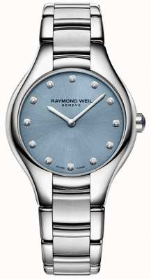 Raymond Weil Womans Noemia 12 Diamond Blue 5132-ST-50081