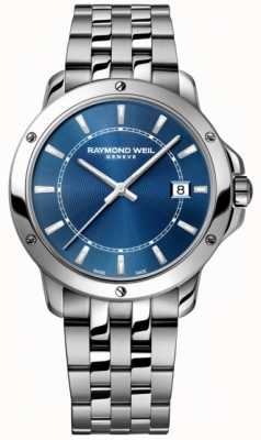 Raymond Weil Mens Tango Stainless Steel Blue Index Dial 5591-ST-50001