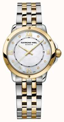 Raymond Weil Womans Tango Two Tone Diamond Dot Mother Of Pearl 5391-STP-00995
