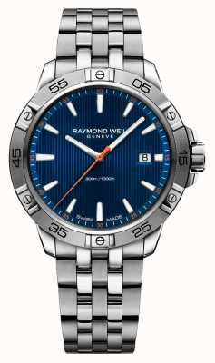 Raymond Weil Mens Tango 41mm Stainless Steel Blue Index Dial 8160-ST2-50001