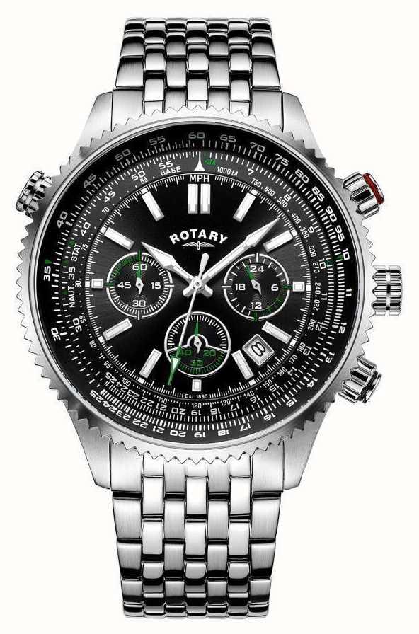 Rotary ocean avenger men's stainless steel watch gb02694/04.