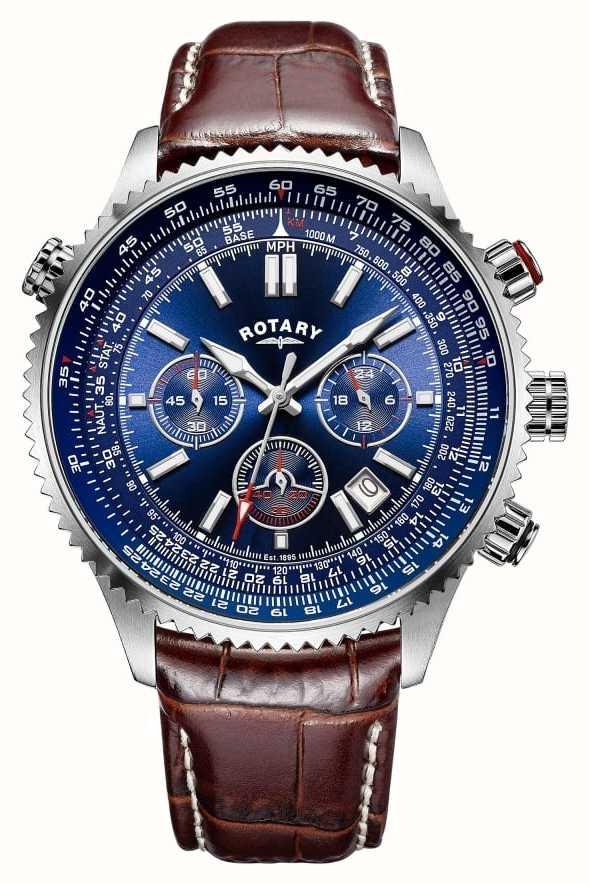 f317745a1e1b Rotary Gents Chronograph Blue Dial