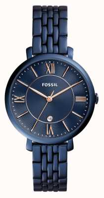 Fossil Ladies Jacqueline Blue Stainless Steel Watch ES4094