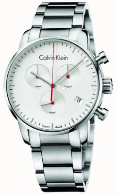 Calvin Klein Mens Stainless Steel City Chronograph Watch K2G271Z6