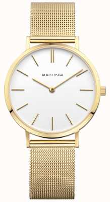 Bering Womens Classic Milanese Gold Watch 14134-331