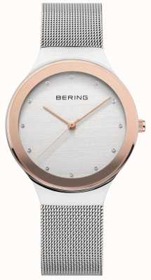 Bering Ladies Silver/ Gold Mesh 12934-060