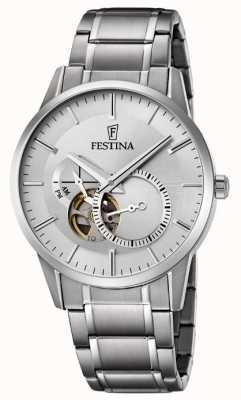 Festina Mens Automatic Stainless Steel Silver Dial F6845/1