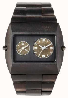 WeWood Mens Jupiter RS Black Wooden Strap 70331300