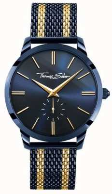 Thomas Sabo Mens Rebel Spirit Blue Steel Yellow Gold Stripes WA0283-286-209-42