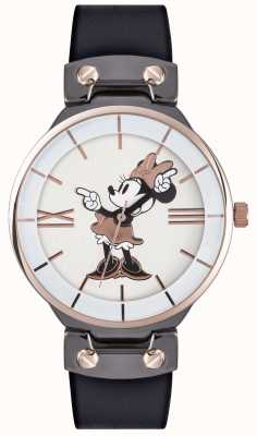 Disney Adult Minnie Mouse Rose Gold Case Black Strap MN1564