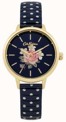 Cath Kidston Ladies Navy Polka Dot Richmond Watch CKL009UG