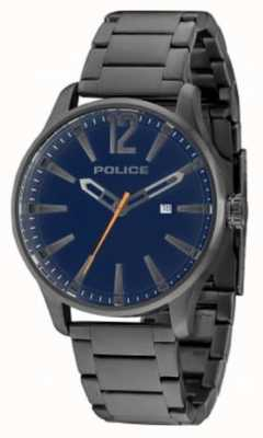 Police Mens Dallas Gun Billet Blue Dial 14764JSU/03M