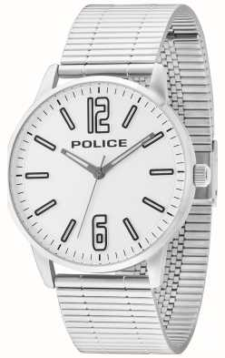 Police Mens Esquire Stainless Steel Billet White Dial 14765JS/04M