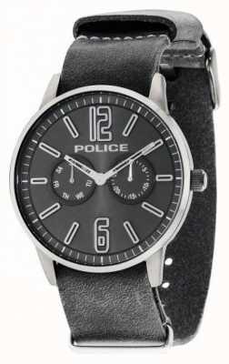 Police Mens Esquire X Dark Grey Leather 14766JSU/61
