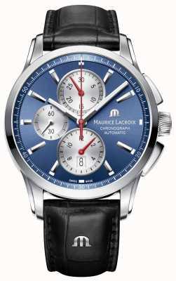 Maurice Lacroix Mens Pontos Automatic Chronograph Blue PT6388-SS001-430-1