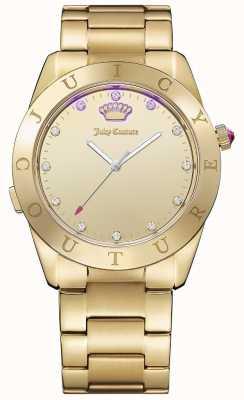 Juicy Couture Womans Connect Quartz Gold Tone 1901500