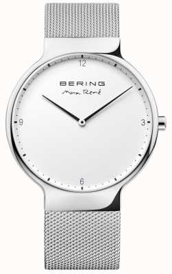 Bering Mens Max René Interchangeable Mesh Strap Silver 15540-004