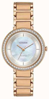 Citizen Womans Eco-Drive Silhouette Crystal Rose Gold EM0483-54D
