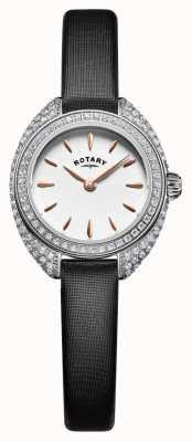 Rotary Womans Petite Stone Set Mesh Silver LS05087/02