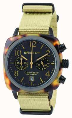 Briston Mens Clubmaster Classic Acetate Chronograph Safari 14140.PBAM.TS.5.NK
