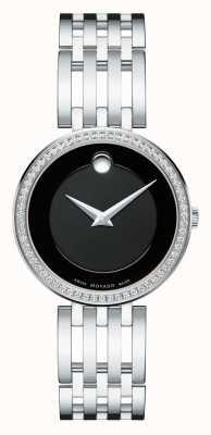 Movado Women's Esperanza 63-diamond Bezel Black Dial 0607052