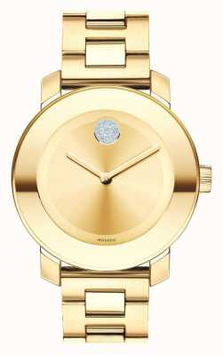 Movado Bold mIdsize Yellow Gold Ion-plated K1 Crystal 3600104