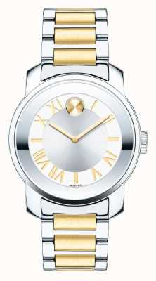 Movado bold Midsize Ladies Luxe Two Tone K1 Crystal 3600245
