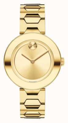 Movado Bold Mid-size Yellow Gold Ion-plated K1 Crystal 3600382
