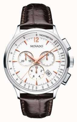 Movado Men's Circa Chronograph Stainless Steel Case White 0606576