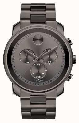Movado bold Large Chronograph Gunmetal Gray Ion-plated 3600277