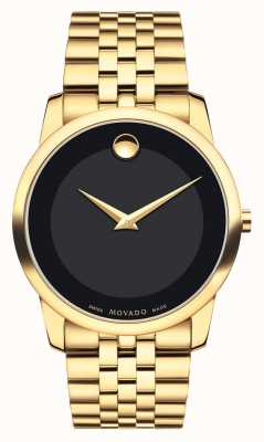 Movado Men's Museum Classic Yellow Gold PVD-finished Black Museum 0606997