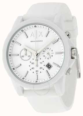 Armani Exchange Mens Active White Chronograph Silicone AX1325