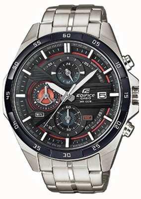 Casio Men's Edifice Stainless Steel Black Dial Chrono EFR-556DB-1AVUEF
