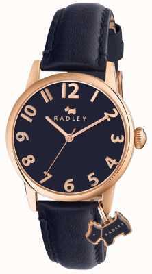 Radley Womans Liverpool Street Navy Leather Strap RY2456