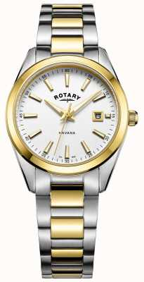 Rotary Womans Havana Two Tone Bracelet LB05080/02