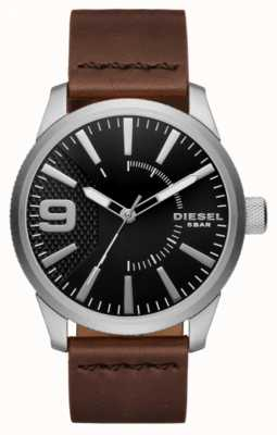 Diesel Mens Rasp Black And Stainless Steel DZ1802
