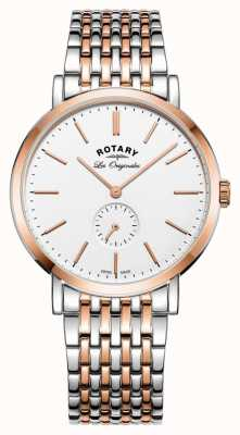 Rotary Mens Windsor Two Tone White Dial GB90191/01