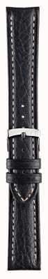 Morellato Strap Only - Kuga Genuine Leather Black 18mm Watch Strap A01U3689A38019CR18
